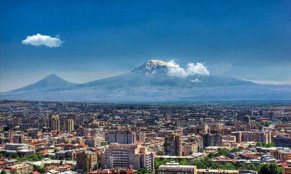 نمایی زیبا از شهر ایروان