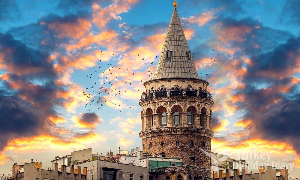 برج گالاتا در شهر استانبول