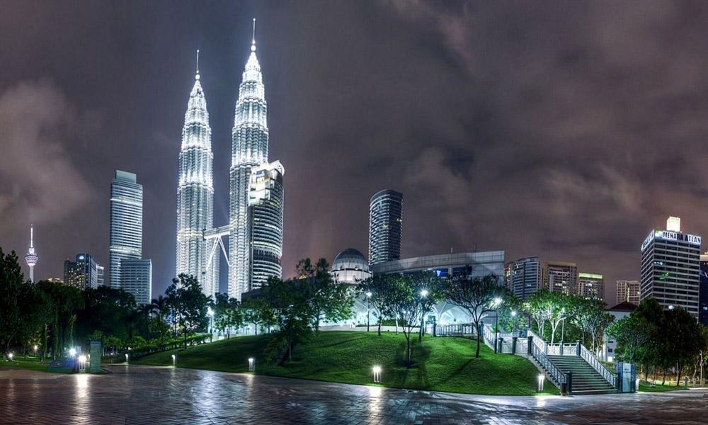 نمای کلی از شهر کوالالامپور پایتخت مالزی