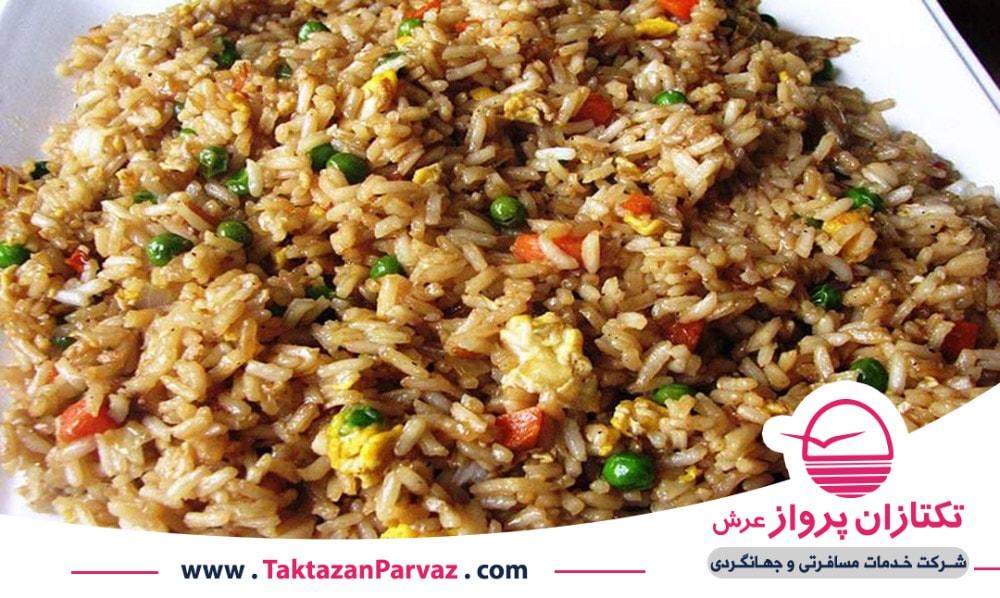 برنج سرخ شده از غذاهای اندونزیایی