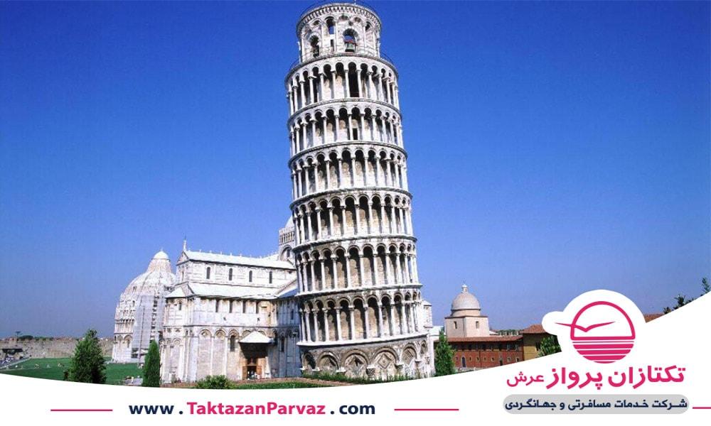 برج کج پیزا در شهر پیزا
