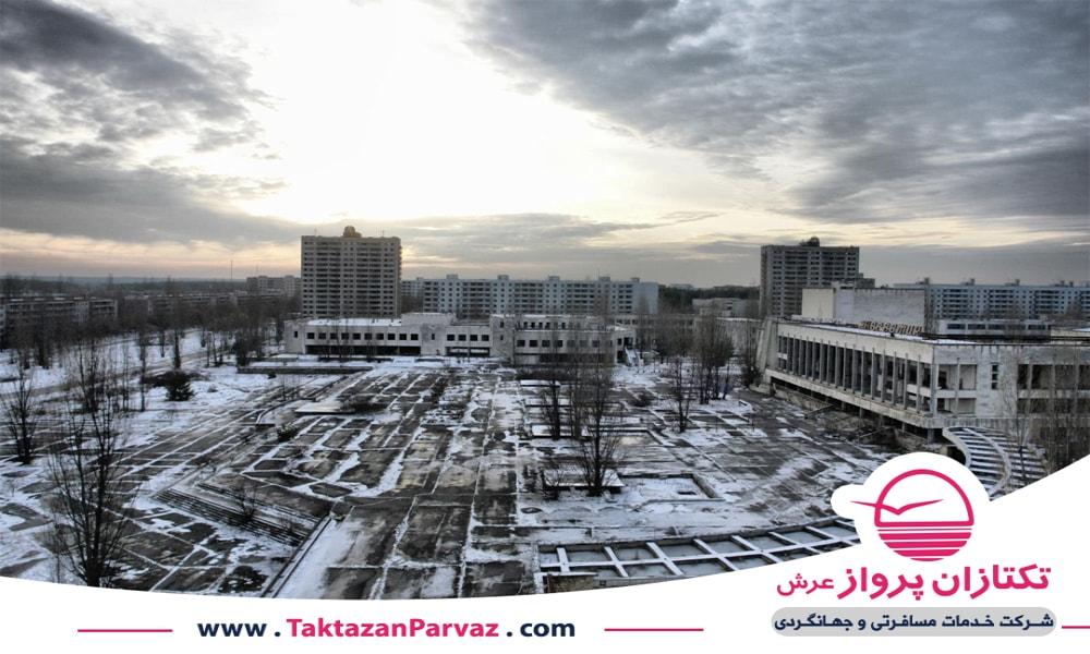 نمایی از شهر چرنوبیل در اوکراین