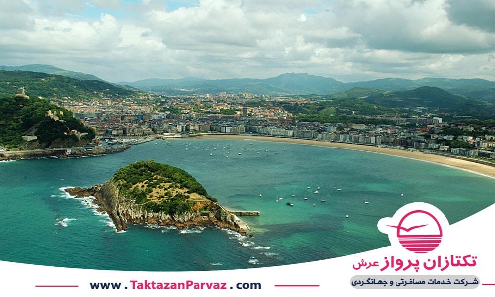 شهر ساحلی لا کونچا در کشور اسپانیا