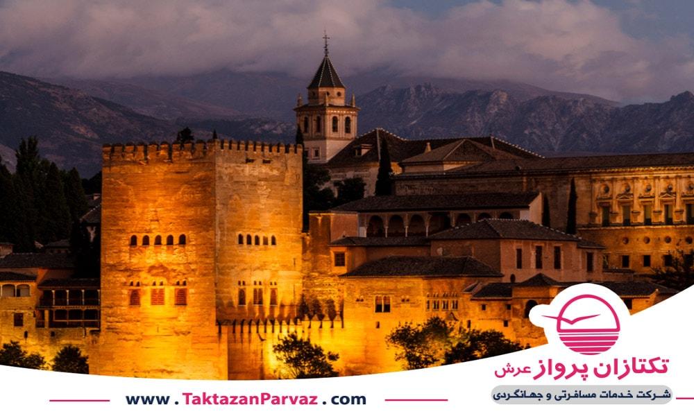 مسجد الحمرا یکی از بناهای تاریخی کشور اسپانیا