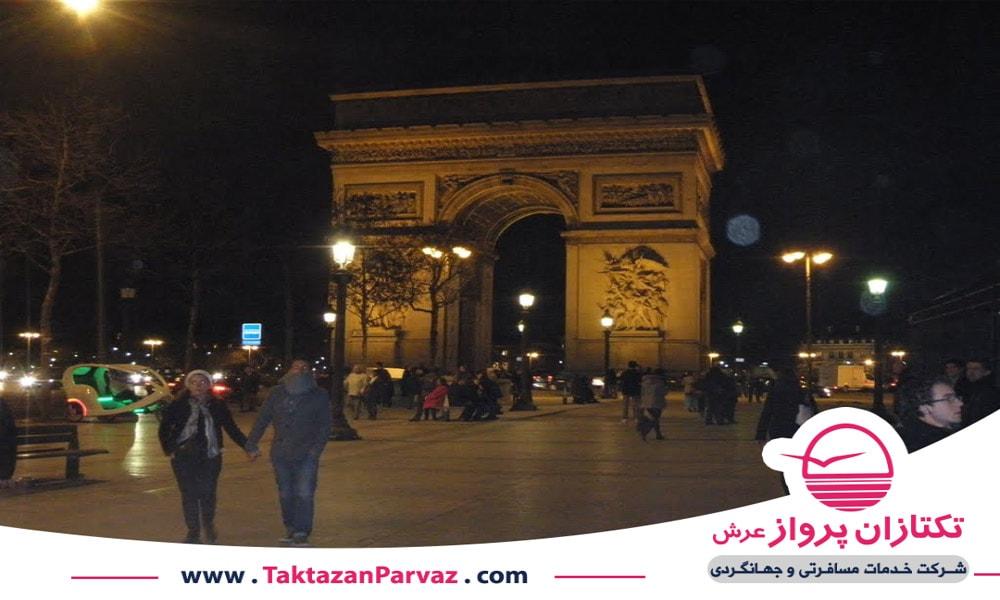 خیابان شانزه لیزه در فرانسه