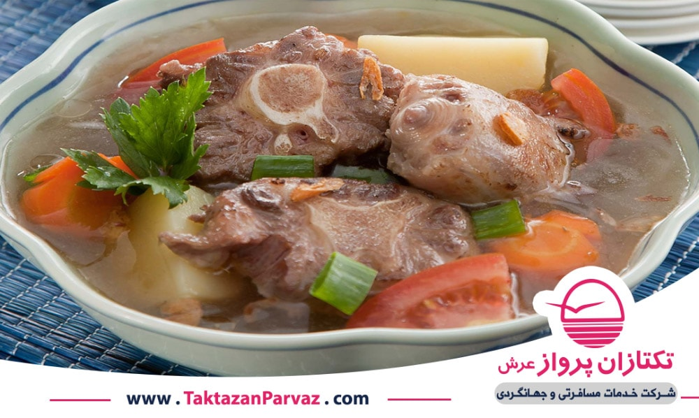 سوپ دم گاو از غذاهای اندونزیایی