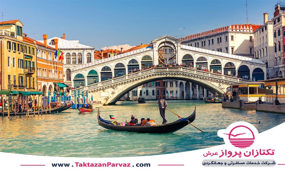 نمایی زیبا از شهر ونیز در ایتالیا